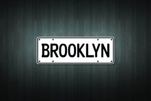 Brooklyn Mini Licence Plate Vinyl Decal Sticker