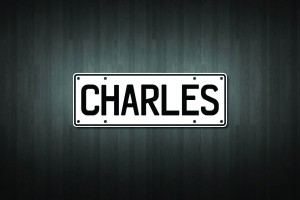 Charles Mini Licence Plate Vinyl Decal Sticker