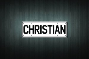 Christian Mini Licence Plate Vinyl Decal Sticker