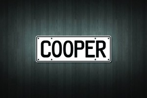 Cooper Mini Licence Plate Vinyl Decal Sticker
