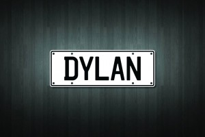 Dylan Mini Licence Plate Vinyl Decal Sticker