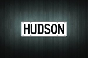 Hudson Mini Licence Plate Vinyl Decal Sticker