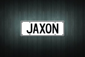 Jaxon Mini Licence Plate Vinyl Decal Sticker