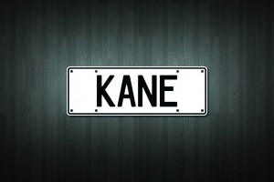 Kane Mini Licence Plate Vinyl Decal Sticker