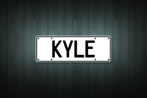 Kyle Mini Licence Plate Vinyl Decal Sticker