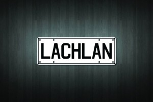 Lachlan Mini Licence Plate Vinyl Decal Sticker