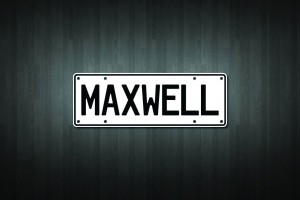Maxwell Mini Licence Plate Vinyl Decal Sticker