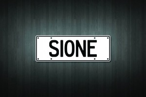 Sione Mini Licence Plate Vinyl Decal Sticker