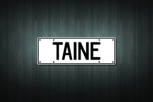 Taine Mini Licence Plate Vinyl Decal Sticker