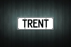 Trent Mini Licence Plate Vinyl Decal Sticker