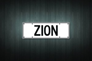 Zion Mini Licence Plate Vinyl Decal Sticker