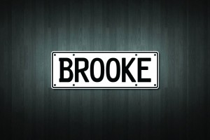 Brooke Mini Licence Plate Vinyl Decal Sticker