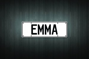 Emma Mini Licence Plate Vinyl Decal Sticker
