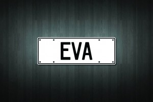 Eva Mini Licence Plate Vinyl Decal Sticker