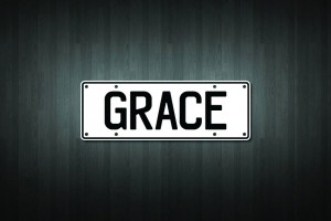 Grace Mini Licence Plate Vinyl Decal Sticker