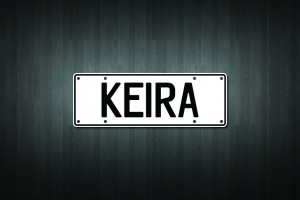Keira Mini Licence Plate Vinyl Decal Sticker