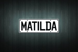 Matilda Mini Licence Plate Vinyl Decal Sticker
