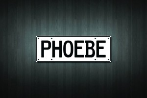 Phoebe Mini Licence Plate Vinyl Decal Sticker