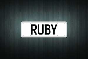 Ruby Mini Licence Plate Vinyl Decal Sticker