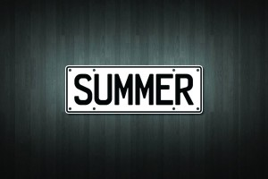 Summer Mini Licence Plate Vinyl Decal Sticker
