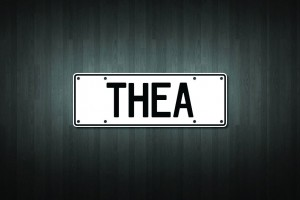 Thea Mini Licence Plate Vinyl Decal Sticker
