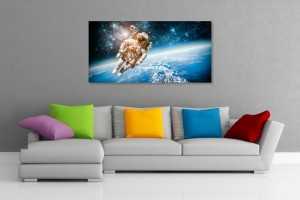Astronaut In Space Wall Art