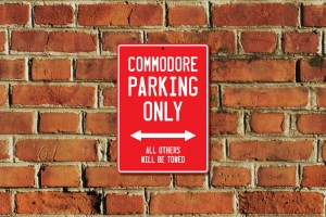 Commodore Parking Only Sign