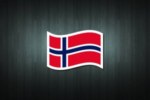 Norway Flag Vinyl Decal Sticker