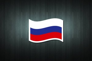 Russia Flag Vinyl Decal Sticker