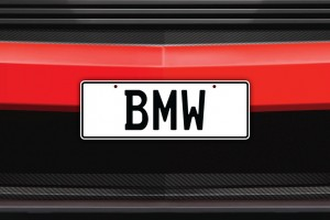 BMW Licence Plate