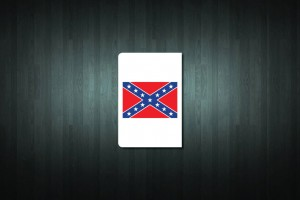 Confederate Flag Euro Style Number Plate Sticker