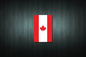 Canada Flag Euro Style Number Plate Sticker