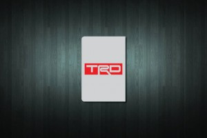 TRD Euro Style Number Plate Sticker