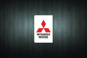 Mitsubishi Euro Style Number Plate Sticker