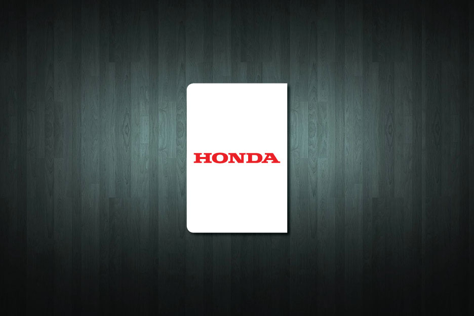 Honda Euro Style Number Plate Sticker